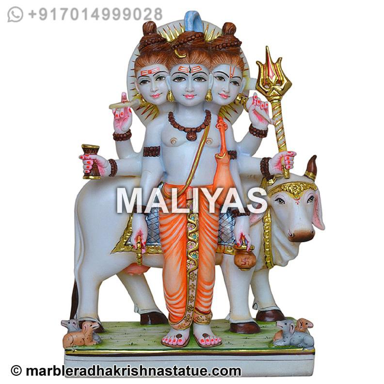 Marble Datta Treya Statue Datttreya Murti Manufacturer